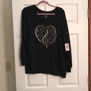 TORRID music love sweatshirt